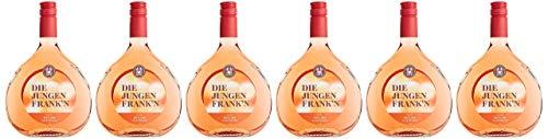 DIE JUNGEN FRANK´N Rotling halbtrocken, Roséwein aus Franken, 6er Pack (6 x 0.75 l)