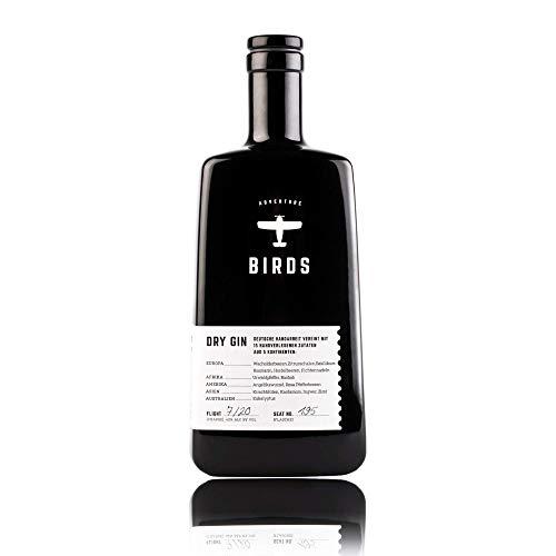 BIRDS Dry Gin - Frischer Deutscher Handmade Gin mit Basilikum, Zitrus und Ingwer - Handgefertigt mit...