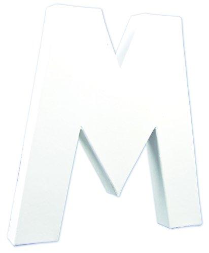 Décopatch AC712C Buchstabe 'M' aus Pappmaché, 3 x 19,5 x 20,5 cm, zum Verzieren, perfekt für Ihre...