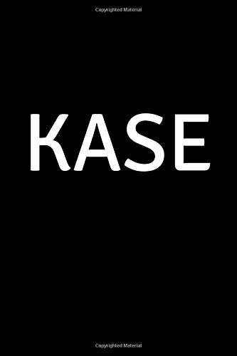 Kase: Personalized Notebook - Simple Gift for Man/Boyfriend/Boss named Kase Journal Diary (110...