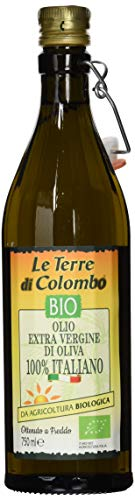 Le Terre di Colombo – 100 % Italienisches Natives Bio-Olivenöl Extra, Gerippte Flasche mit...