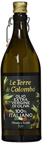 Le Terre di Colombo – 100 % Italienisches Natives Olivenöl Extra, Gerippte Flasche mit...