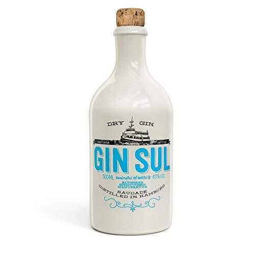 Gin Sul (1x0,5l) Original Dry Gin destilliert und abgefüllt in Hamburg, hochwertige weiße...