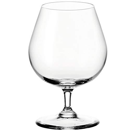 Leonardo Ciao+ Cognac-Glas, Cognac-Schwenker mit gezogenem Stiel, spülmaschinenfeste...