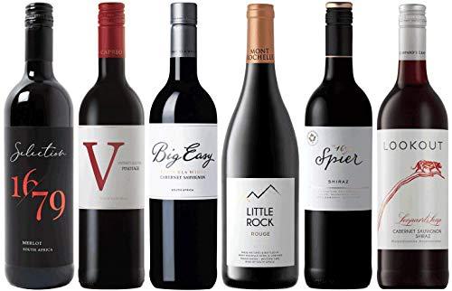 Weinpaket Rotwein aus Südafrika | Probierpaket mit Rotweinen aus Südafrika (6 x 0.75l) | Trocken |...