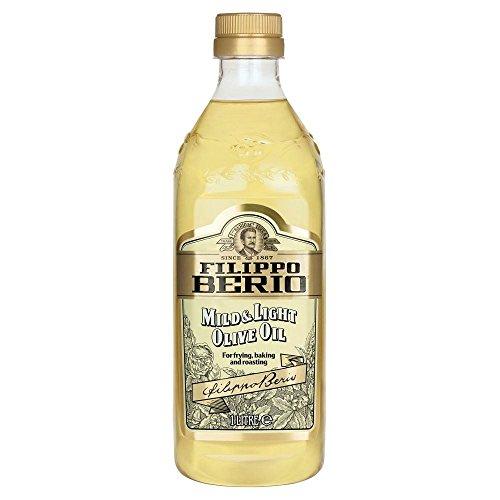 Filippo Berio Mild & Light Olive Oil (1 l) - Packung mit 2