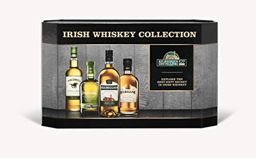 Cooleys Irish Whiskey Geschenkset mit Tyrconnell, Connemara, Kilbeggan Traditional and Single Grain,...