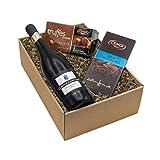 Geschenkset 'Gaumenfreude' Schokolade und Wein und Schokolade (1 x 0.75 l)