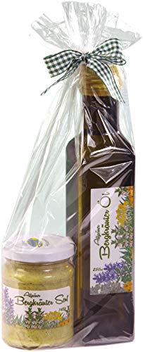 Geschenkset aus dem Allgäu | 135g Bergkräutersenf und 250ml Bergkräuteröl Olivenöl | Feinste...