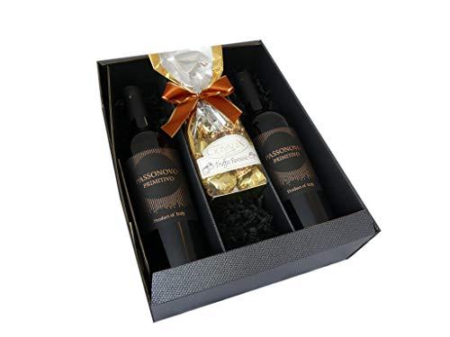 Geschenkset Rotwein mit Schokoladentrüffel