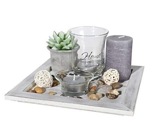 ootb Dekor-Teelichthalter Geschenkset, Mehrfarbig, 20 x 20 x 8