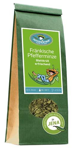 Fränkischer Pfefferminztee Blattkrüll Pfefferminze - 50g und 200g Premium - Blätter, 1. Schnitt,...