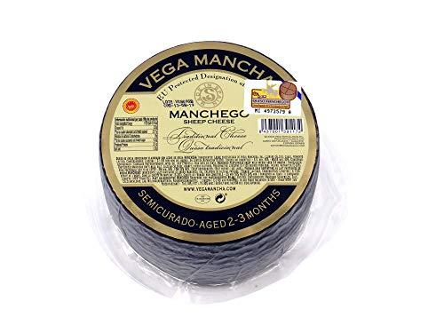 Manchego Käse 2-3 Monate gereift, Schafskäse aus 100% pasteurisierter Manchego Schafsmilch, La...