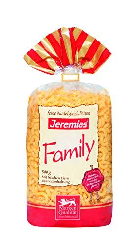Jeremias Hörnchen klein, Family Frischei-Teigwaren, 4er Pack (4 x 500 g Beutel)