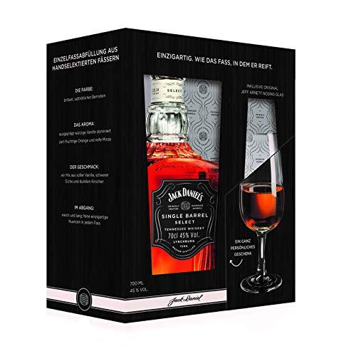 Jack Daniel's Single Barrel Geschenkset mit original Jeff Arnett Nosing-Glas - limitiert Whisky (1 x...