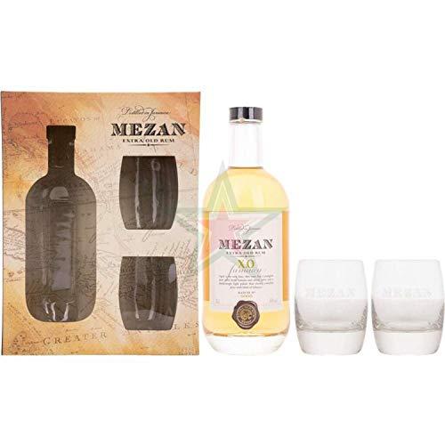 Mezan XO Jamaican Rum mit 2 Gläsern 40,00% 0,70 Liter