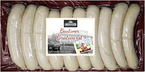 Rostbratwurst grob | Die würzige Bratwurst | Echte Bautzner Wurst zum Grillen | 10 x 100g