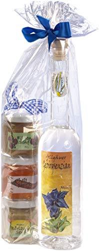 Geschenkset aus dem Allgäu | 200ml Gebirgs Enzian 38% Vol. | Senf Geschenkset | Handgemachte Senfe...