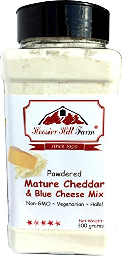 Cheddar and Blue Cheese Powder Mix (300 Grams) Easy Ingredient and Savory Topping by Hoosier Hill...