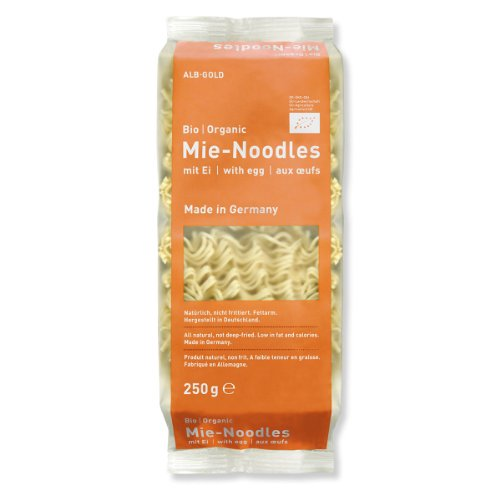 Alb-Gold AG Mie Noodles Bio/Organic mit Ei, 4er Pack (4 x 250 g)