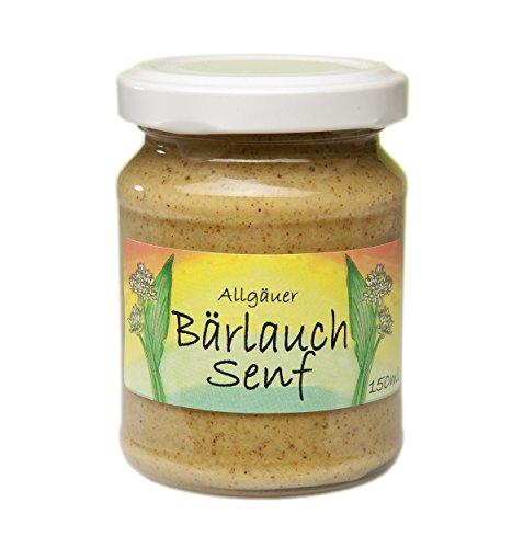 Bärlauch-Senf aus dem Allgäu | 135g Gourmet Senf mittelscharf im Glas