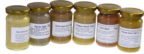 Wiedemer - Gourmet Senf Set 'Süß-Scharf' sechs unserer beliebten Senf-Variationen von süß bis...