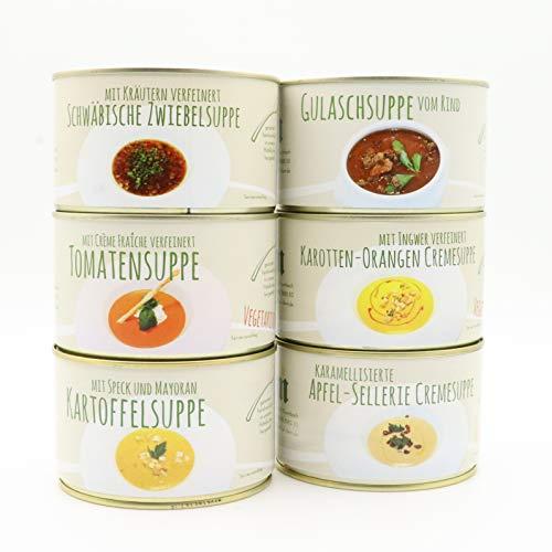 Diem Suppe Paket , Probierpaket - Lieblingssuppe - Apfel Sellerie Suppe, Zwiebelsuppe,...