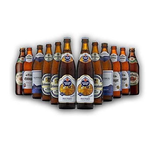 Bayrisches Weibier-Geschenk-Set in Bierbox (12x0,5l Bier aus Bayern) | Ein Mix aus verschiedenen...