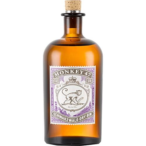 Monkey 47 Schwarzwald Dry Gin – Gin mit Wacholderaroma und frischen Zitronen- und Fruchtnoten –...