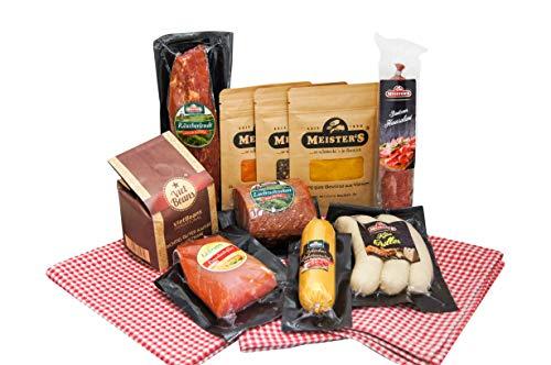 Spezialitäten Geschenk Wurstpaket Kaffee Set gemahlen | Gewürze Geschenkset Schinken Salami Käse...