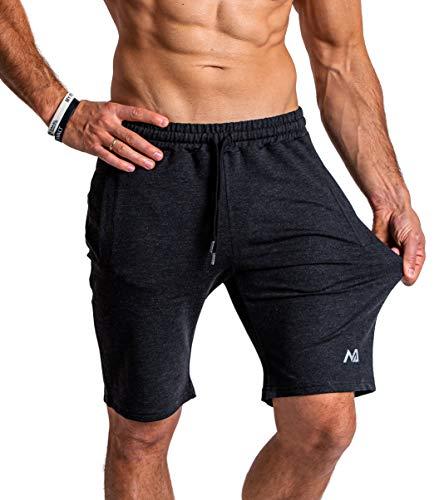 Natural Athlet Herren Fitness Shorts Meliert - Hochwertige Kurze Jogginghose & Sport Laufhose - mit...