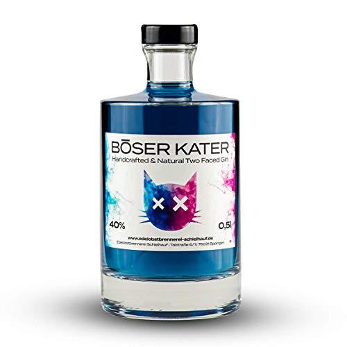 Böser Kater Two Faced Gin mit Farbwechsel   Ändert bei Zugabe von Tonic Water die Farbe  ...