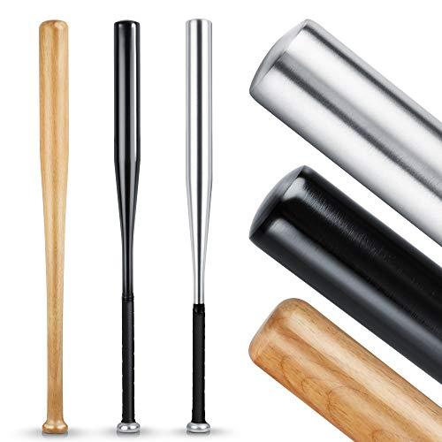 Heldenwerk Baseballschläger aus Holz oder Aluminium - Mit 31 Zoll auch zur Selbstverteidigung ideal...