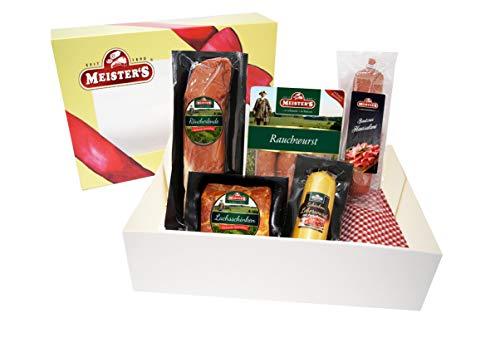 Wurstpaket Geschenk | Schinken Salami Set | Lende geräuchert Leberwurst Preiselbeeren | BBQ...
