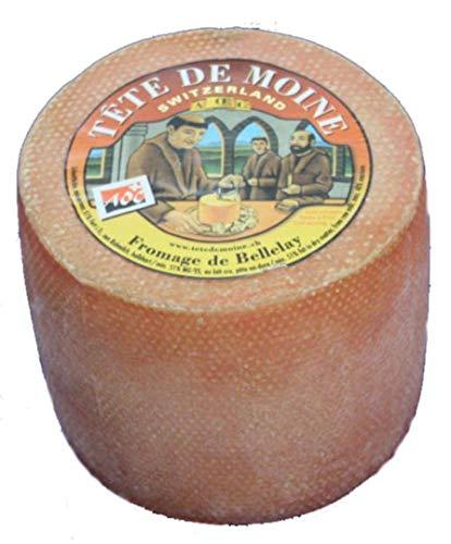 Original AOC Tete de Moine Schweizer Mönchkopf Käse Ganzer Laib ca. 900 g