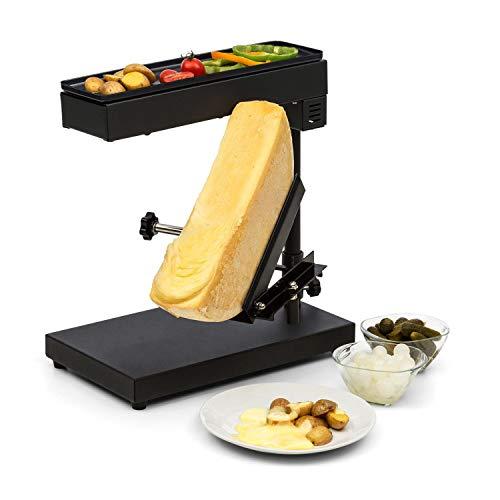Klarstein Appenzell Peak - Raclette mit Grill, Käseschmelzer, traditionelles Käseschmelzen,...