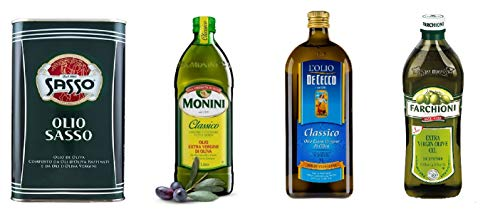 Testpaket De Cecco Monini Sasso Farchioni Olio Extra vergine D'oliva Natives Olive Olivenöl 1 Lt...