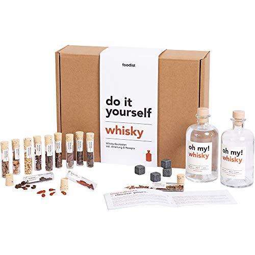 Foodist Whisky Infusion Baukasten   Geschenk mit Ansatzalkohol 40%   12 hochwertige Botanicals &...
