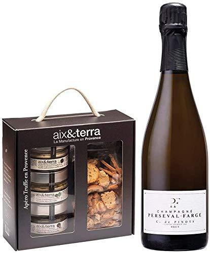 Champagne & Feinkost Gourmet Geschenkbox - mit 1 Flasche Premium Winzer Champagner Brut & leckeren...