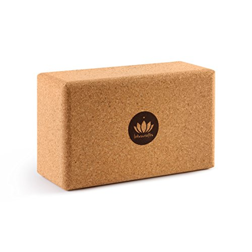 Lotuscrafts Yogablock Kork Supra Grip - ökologisch hergestellt - Yogaklotz aus Naturkork -...