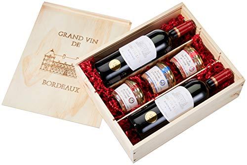 Geschenkset Frankreich de Luxe 5-teilig (2 x 0.75 l)