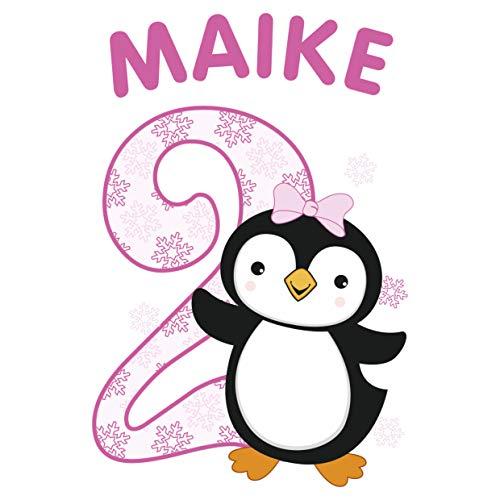 MissRompy Geburtstag Bügelbild Pinguin (846) für dunkle und helle Stoffe Zahl groß Aufbügler...