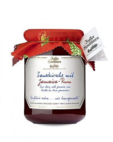 Marmelade aus dem Schwarzwald Faller Sauerkirsch-Konfitüre extra mit Jamaica-Rum