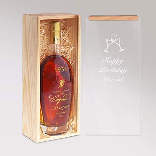 Cognac 1960 - Jahrgangscognac Albert de Montaubert 1960 mit individueller Namens-Gravur