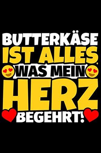 Notizbuch liniert: Butterkäse Geschenke für Butterkäse-Liebhaber lustig