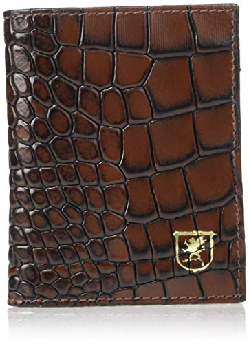STACY ADAMS Herren Osborne Croc Folding Card Holder Kartenetui, Cognac, Einheitsgröße