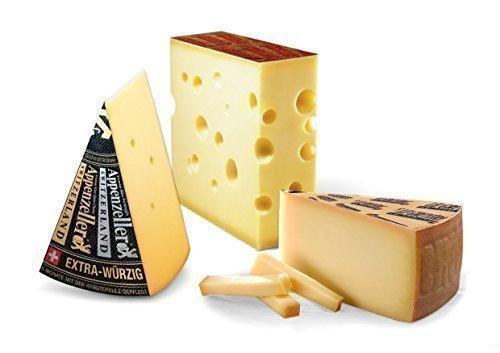 Schweizer Käse Sortiment Appenzeller extra Emmentaler Höhle Greyerzer Höhle 1kg