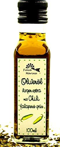 Chiliöl mit grünem Jalapeno Chili 100ml aus der Finca Marina Gewürzmanufaktur