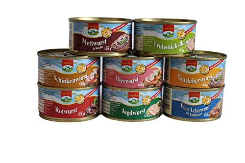 Eifler Wurstsorten Probierpaket 8 Dosen a 125 g