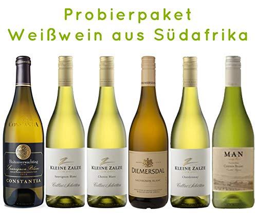 6 er Probierpaket   Weißwein aus Südafrika   trocken   6 x 0,75 L.